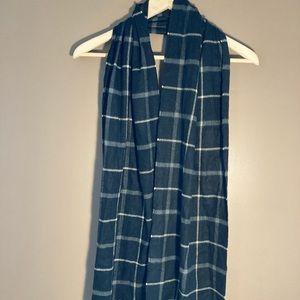 Coach Leatherware cashmere plaid scarf
